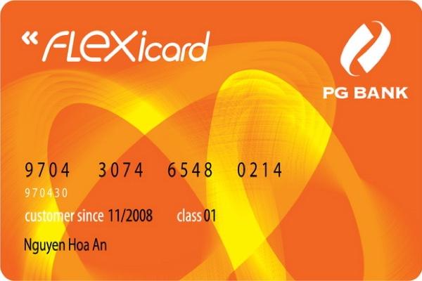 Làm thẻ Flexicard trả trước PG Bank; giảm giá khi mua xăng, tính bảo mật cao