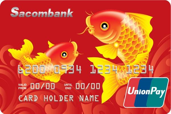 Thẻ trả trước Sacombank UnionPay; miễn phí tra cứu, không cần duy trì số dư tối thiểu