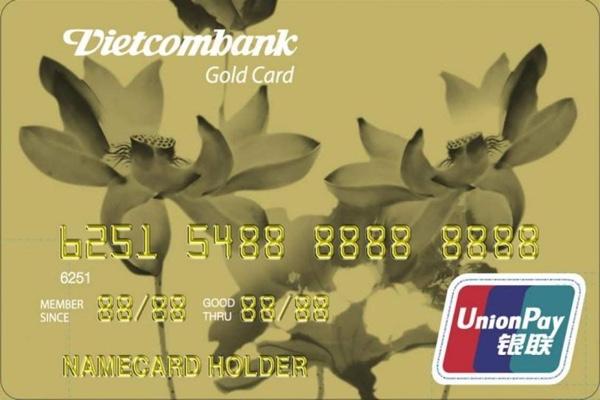 Hình ảnh mẫu thẻ Vietcombank Unionpay