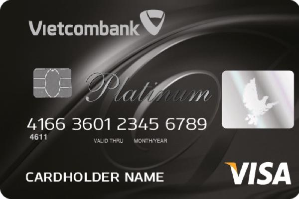 Hình ảnh mẫu thẻ Vietcombank Visa Platinum