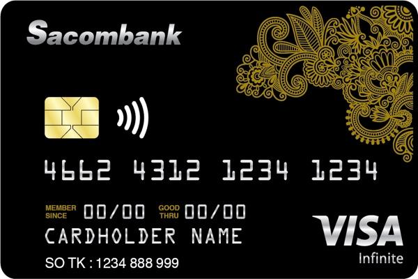 Đăng ký thẻ Visa Infinite Sacombank; bồi thường bảo hiểm 23 tỷ VNĐ, miễn lãi 55 ngày