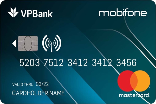 Thẻ tín dụng MobiFone-VPBank Titanium MasterCard; hạn mức 1 tỷ, miễn lãi 45 ngày