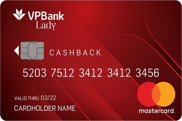 Đăng ký thẻ tín dụng VPLady; miễn phí phát hành, hoàn tiền 6%